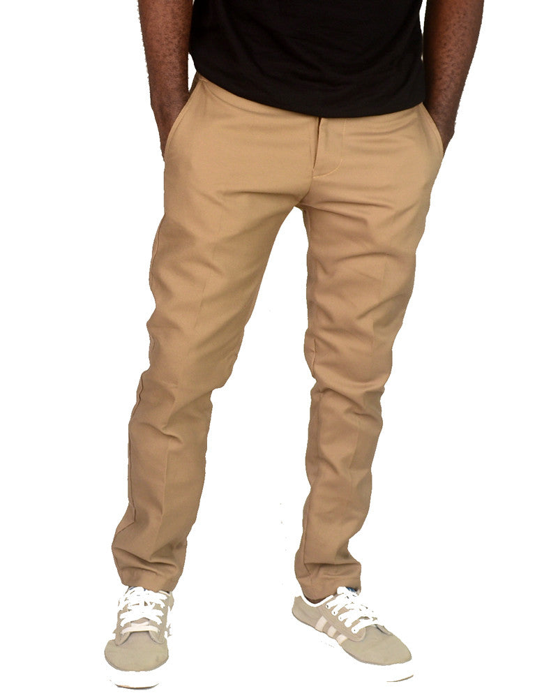 Plain Carton Dark Pants