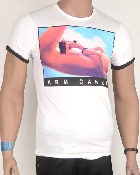 Arm Candy Print White T-shirt - Small