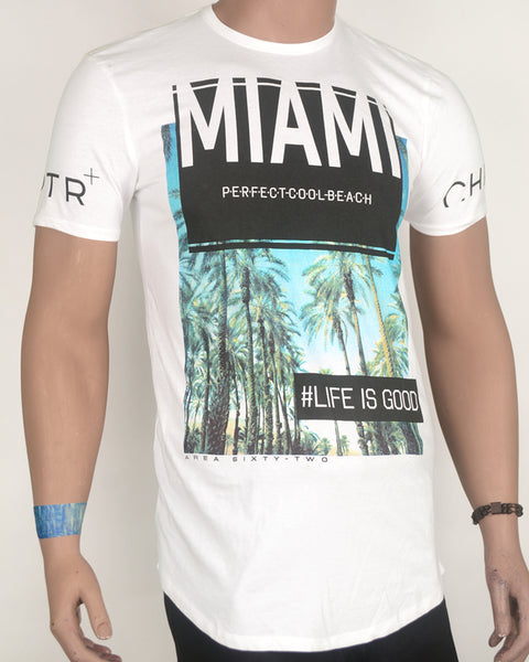 Maimi Perfect Cool Beach White T-shirt - Small