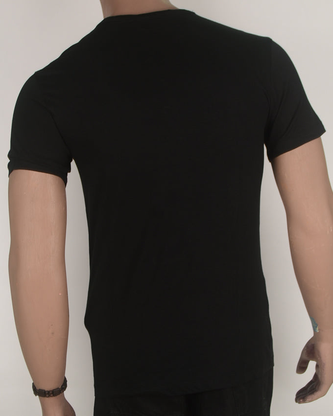Original Gold print Black T-shirt - Small