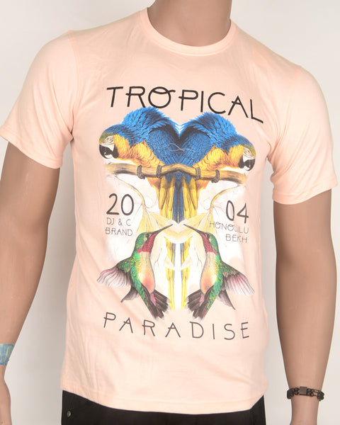 Tropical Paradise Peach T-shirt - Small