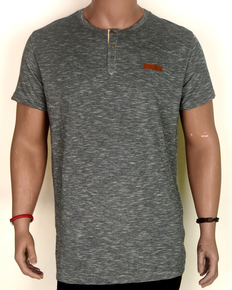 Grey With Buttons and Orange Patch - XL