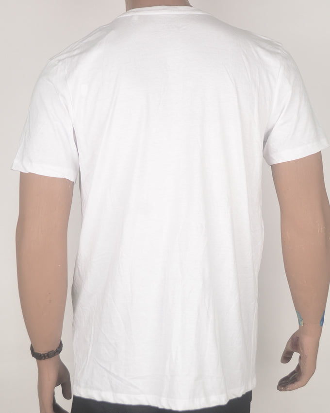 The Ride Aint Over White T-Shirt - Large
