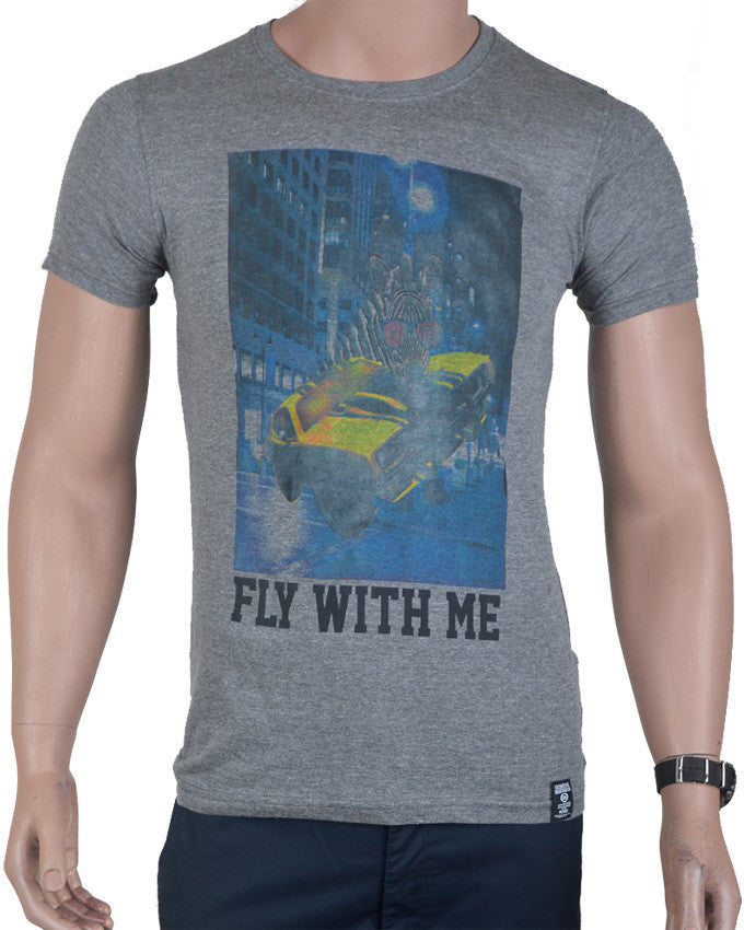 Fly With Me T-shirt - Grey - Small
