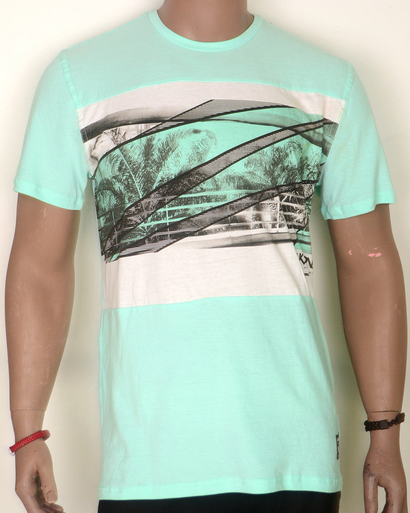 Palm Trees Lines - Lime Green - XL