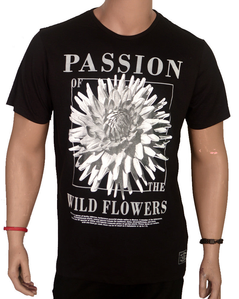 Passion of the Flowers T-shirt - Black - XL