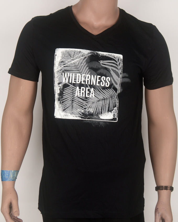Wilderness Area Black T-shirt - Large