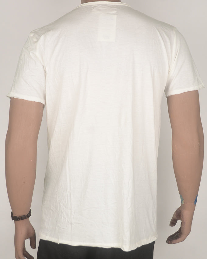 Reality Print White T-shirt - Large