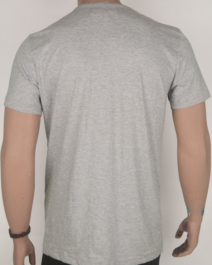 Three Black Patches Grey T-shirt - Large