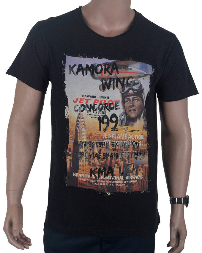 Kamora Wings T-shirt - Black - Large