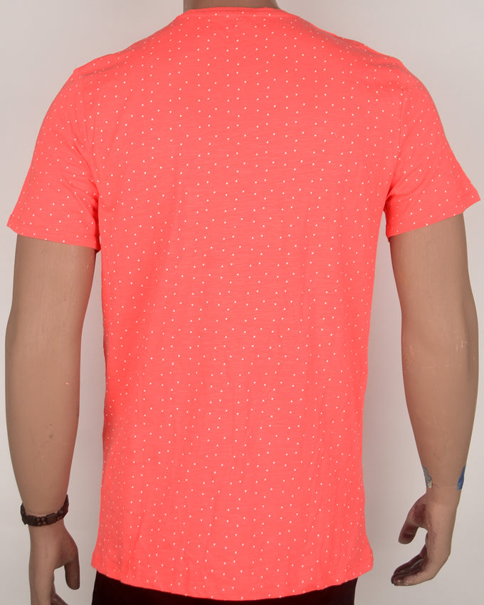 Bright Red with Dots T-shirt - Large