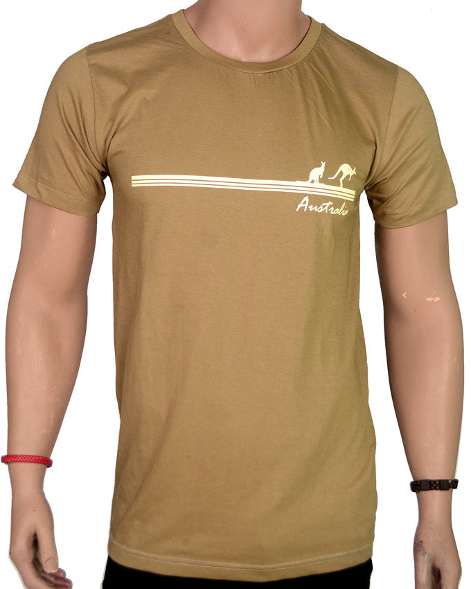 Australia Kangaroo - T-Shirt - Brown - Large
