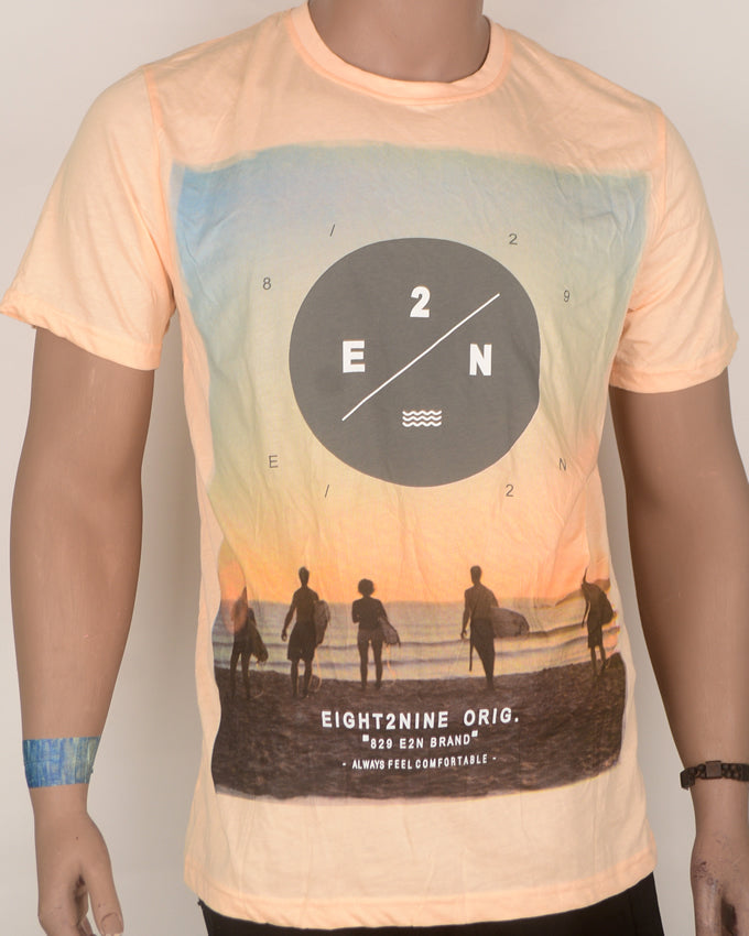 E29 Print Yellow T-shirt - Large