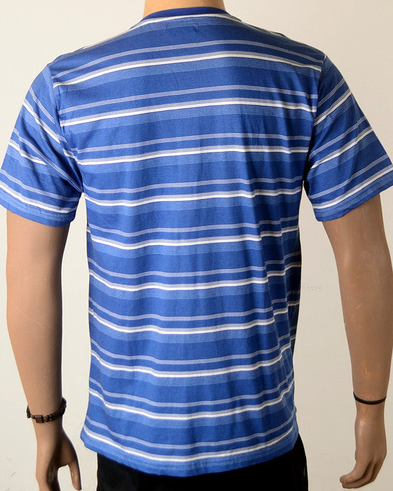 Blue and White  Stripes  - T-Shirt - Large