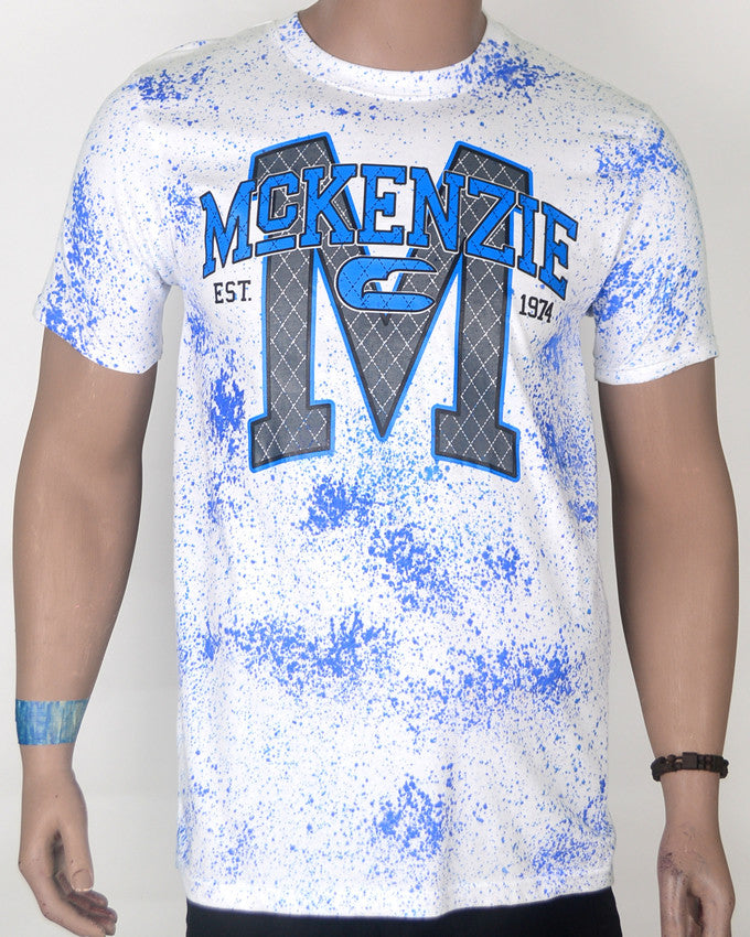 Mckenzie Blue and White T-shirt - XL