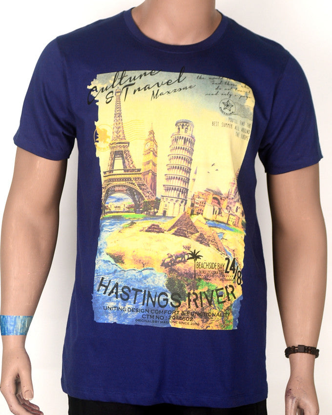 Hasting River Print T-shirt - XL