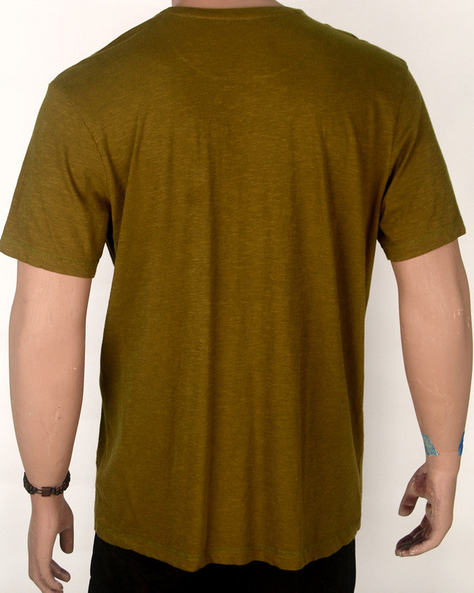 Green Brown Blue Print T-shirt - XL