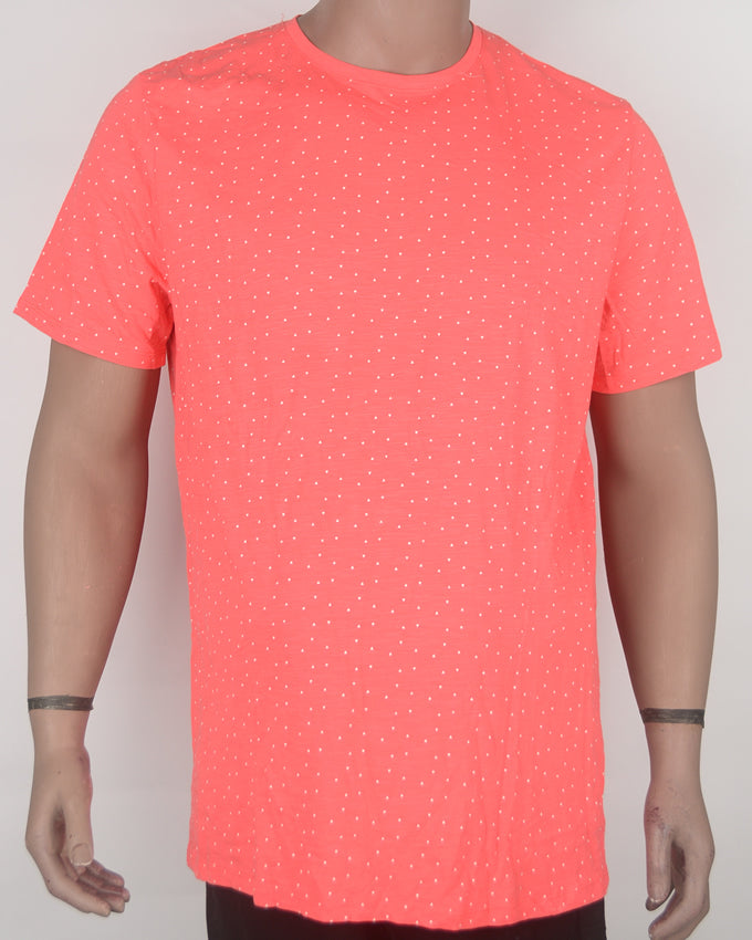 Bright Red Dotted T-shirt - XL