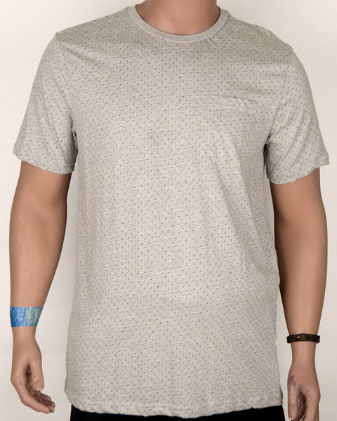 Grey with Black Dots T-shirt - XL