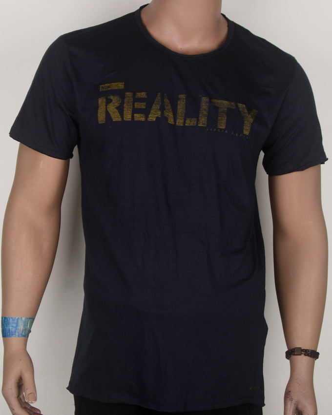 Reality Navy Blue T-shirt - Large