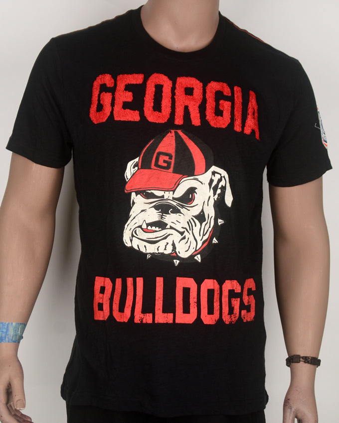 Georgia Bulldogs Print Black T-shirt - Large