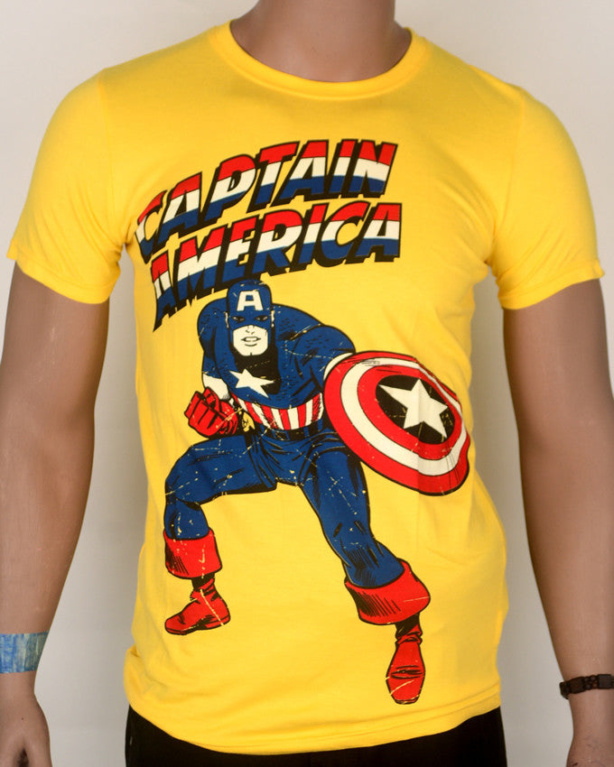 Captain America Yellow 1 T-shirt - Medium