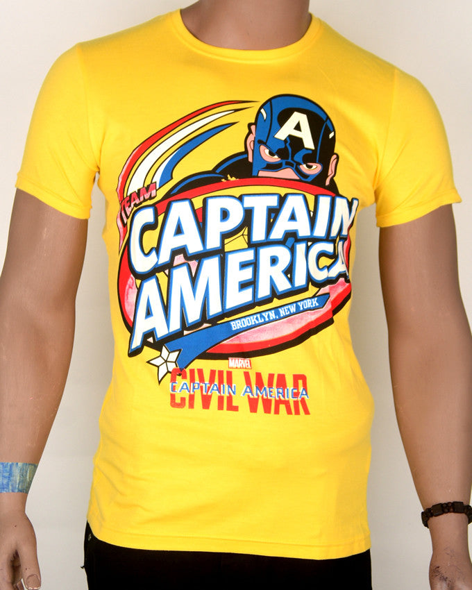 Captain America Yellow 2 T-shirt - Medium