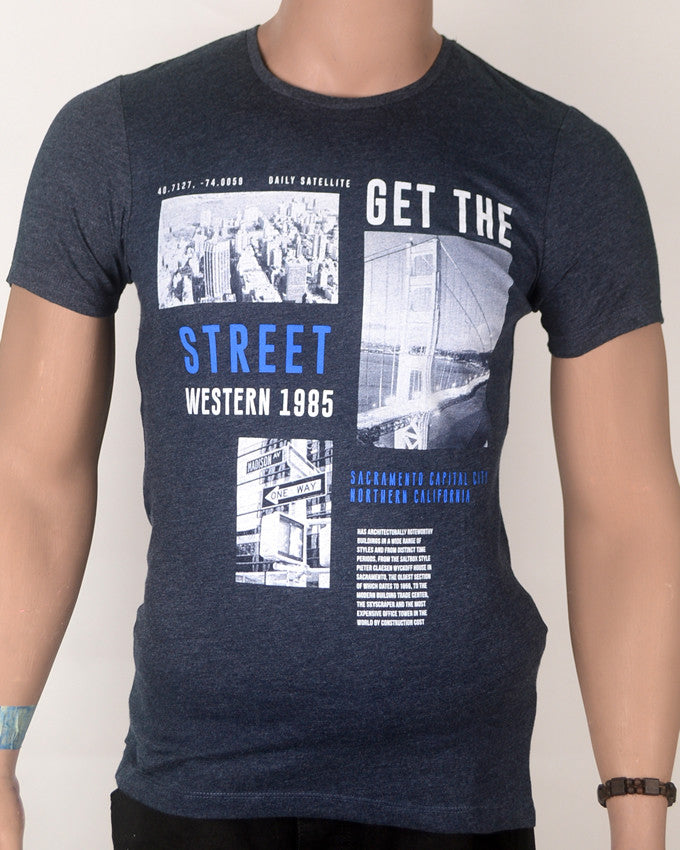 Get The Streets Grey - T-shirt - Small