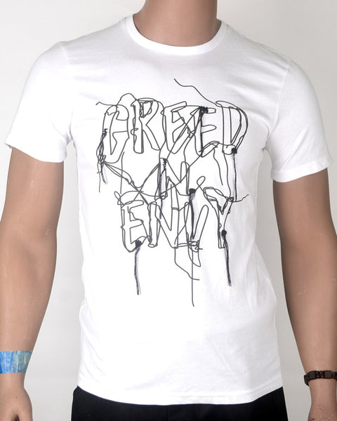 Greed and Envy White - T-shirt - Small