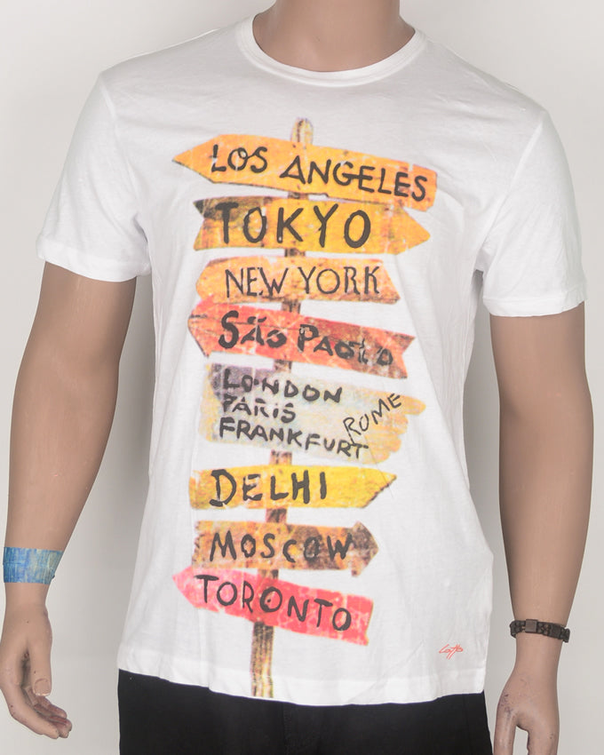 Los Angeles and Other Capitals White T-shirt- Large