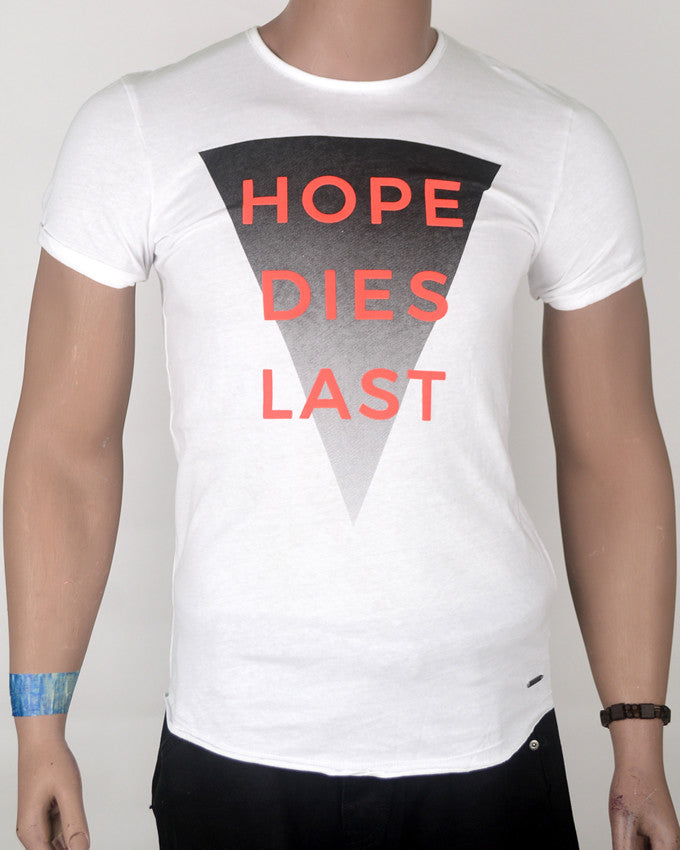 Hope Dies Last White T-shirt - Small