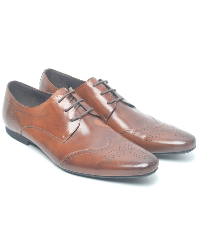 Fad-Fine Brown Brogue Details Formal Shoes