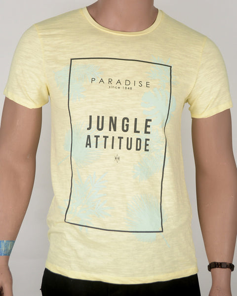 Jungle Attitude Cream T-shirt - Small