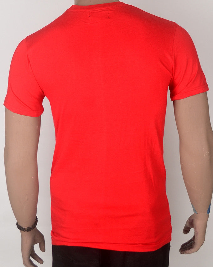 Red Guitar Base T-shirt - Medium