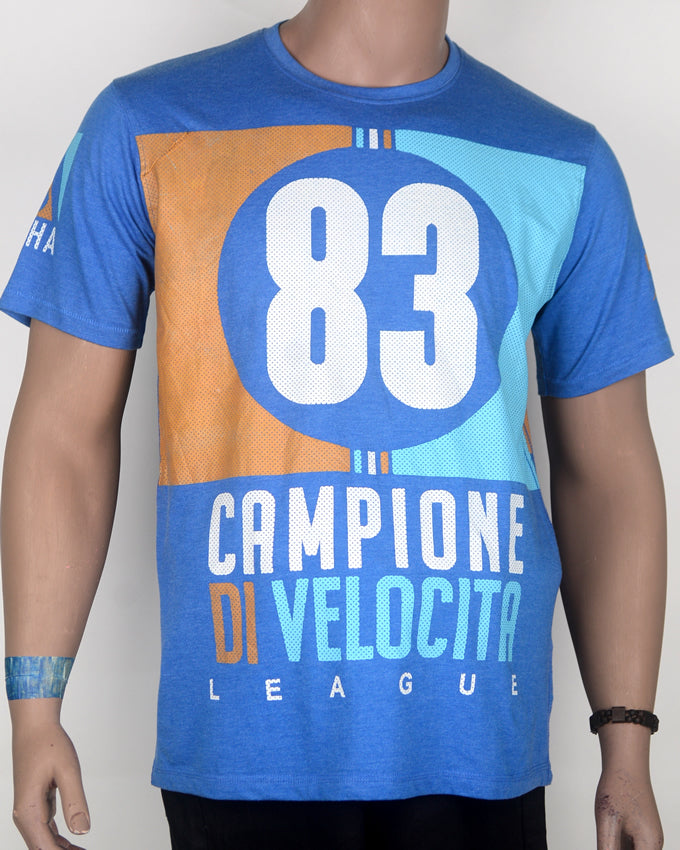 No 83 Champione Di Velocita Blue T-shirt - Large
