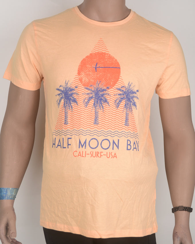 Half Moon Bay Orange T-shirt - Medium