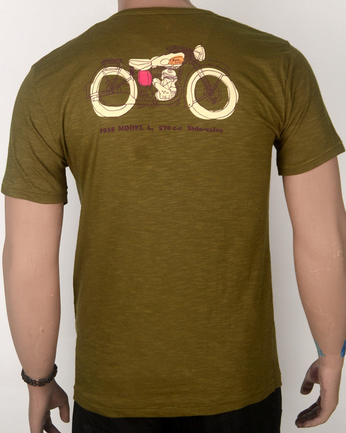 The Big Single Greenish Brown T-shirt - Medium