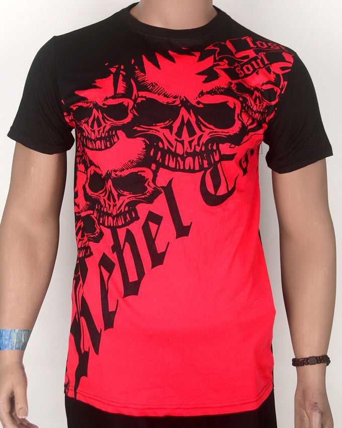 Rebel Red Print T-shirt - Medium