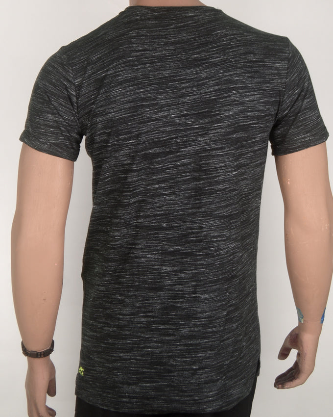 Plain Dark Grey Rough Pattern T-shirt - Medium