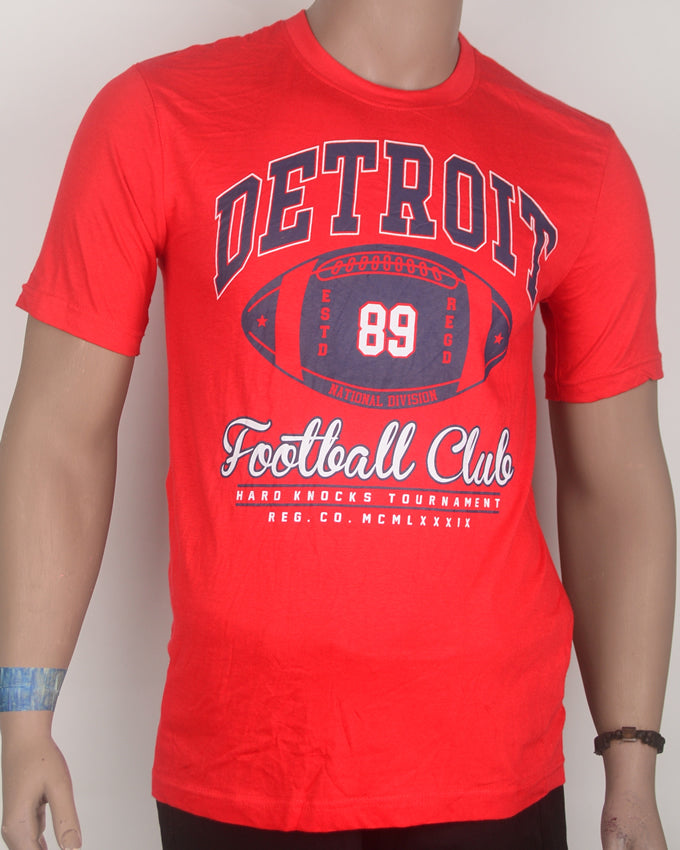 Detroit Print Red T-shirt - Medium