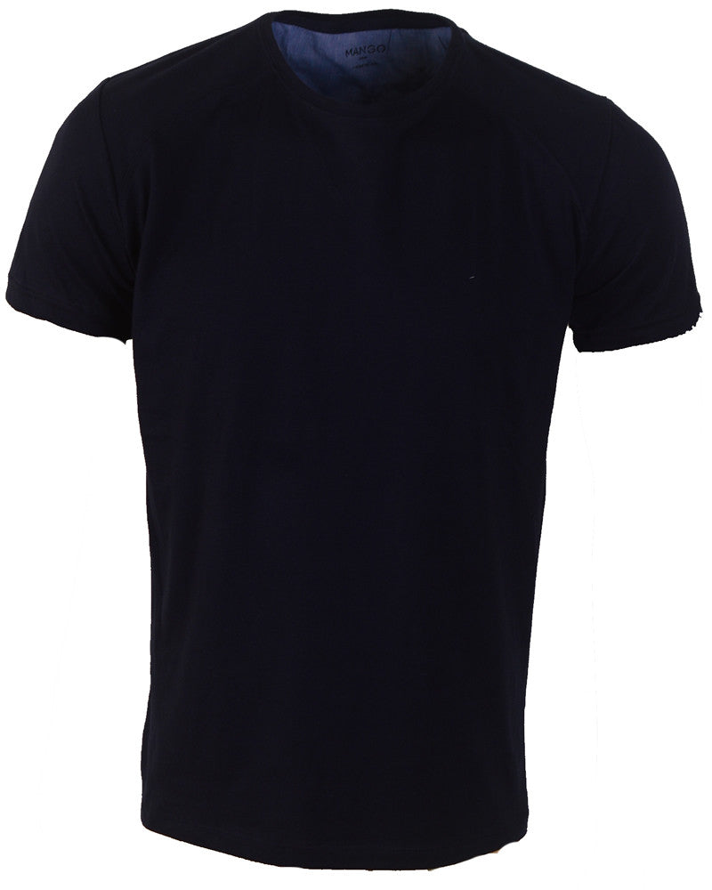 Plain Dark Blue - T-Shirt - Large