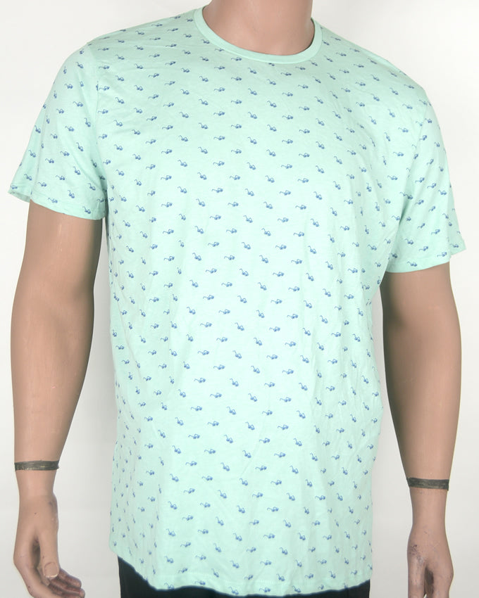 Sunset Shades Print Blue T-shirt - XL