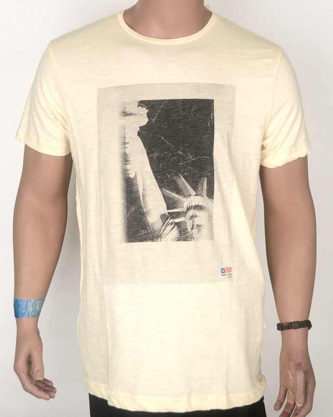 Statue Of Liberty Cream T-Shirt - Large