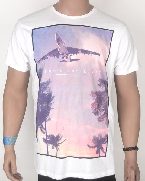 Sky Is The Limit White -Shirt - Large