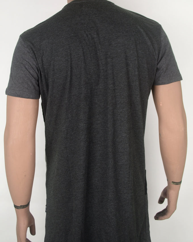 Patched Leather Grey T-shirt 2 - XL