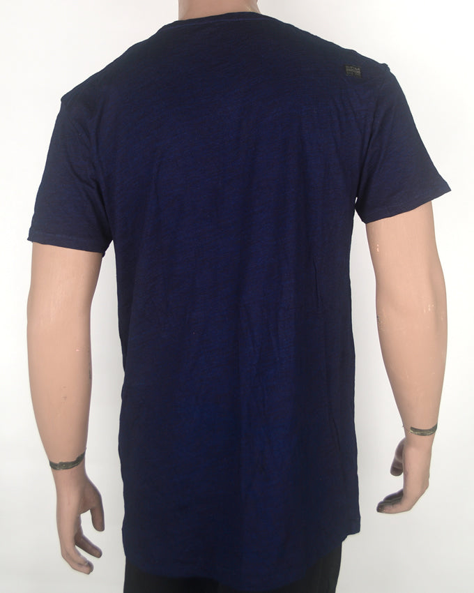 RAW Print Navy Blue T-shirt - XL