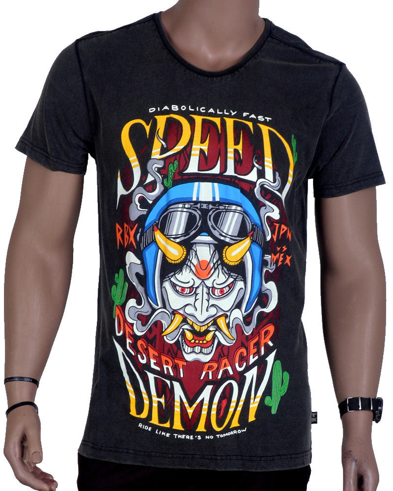 Desert Racer Demon T-Shirt - Grey - Large