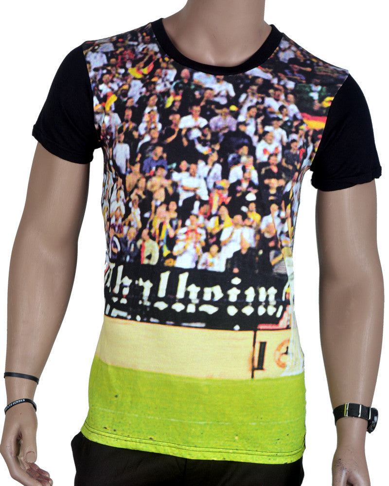 Stadium Background T-Shirt - Black - Small
