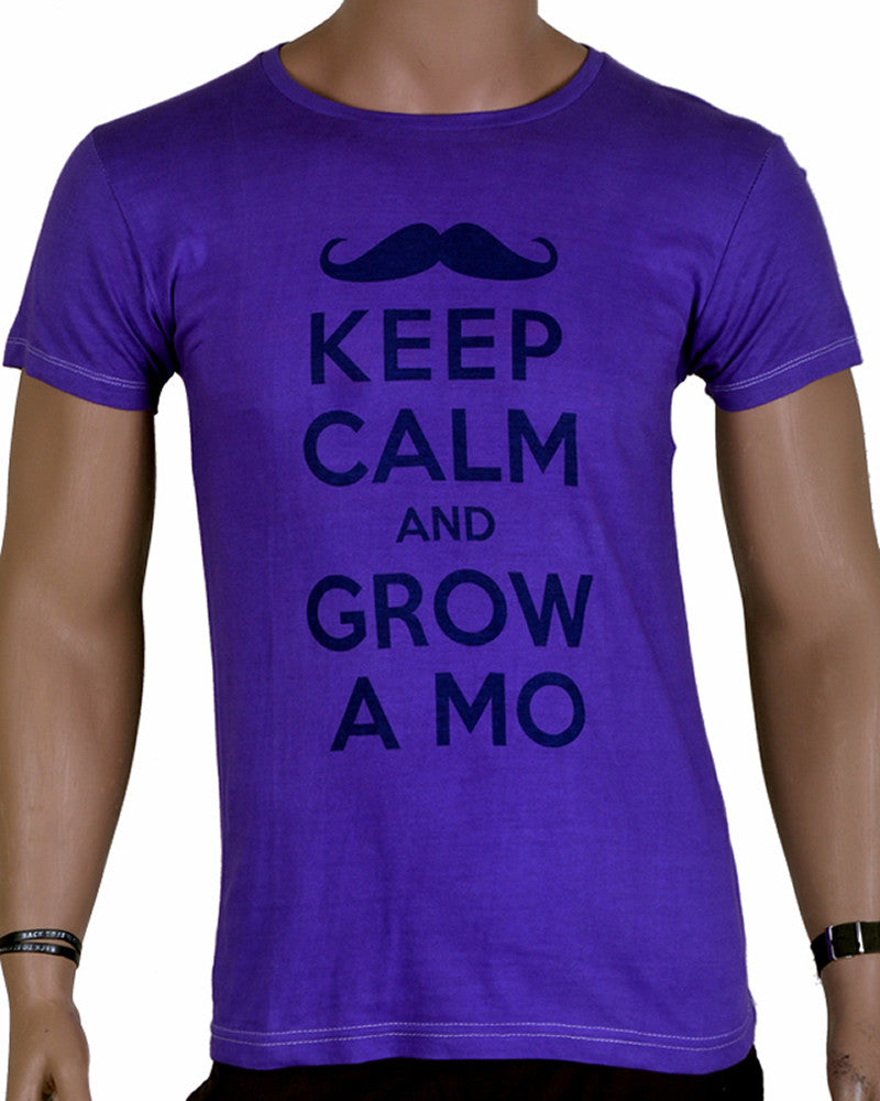 Keep Calm And Grow T-Shirt - Purple - Medium