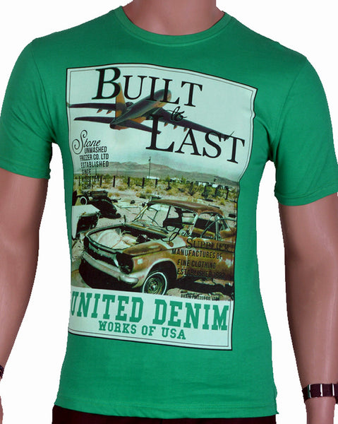 Built To Last T -Shirt - Green - Medium